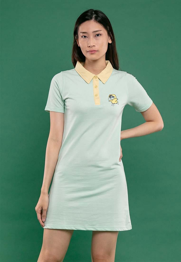 Shinchan Ladies Printed Polo Dress - FC820010