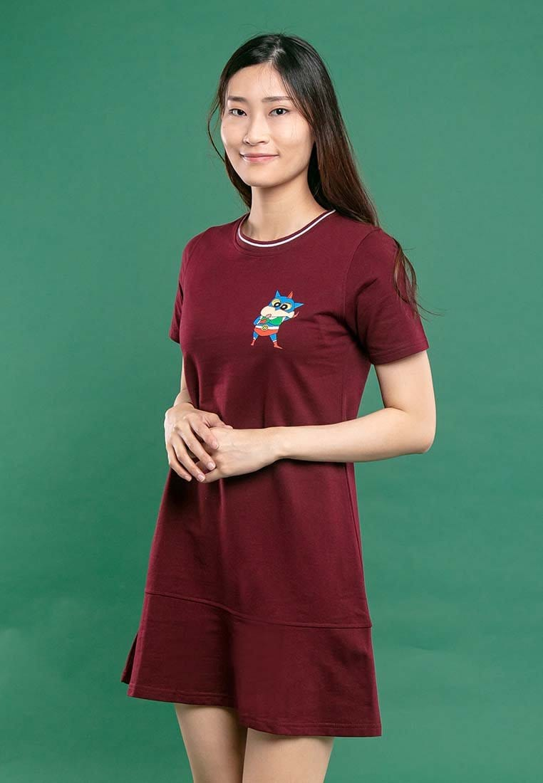 Shinchan Ladies Printed Round Neck Dress - FC820013