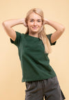 Doreamon Ladies 3D Embossing Round Neck Tee - FD820049