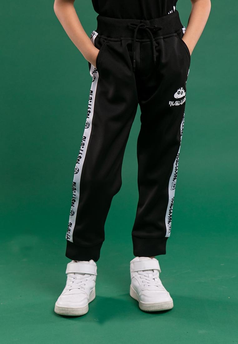 Shinchan Kids Taping And Premium Printed Logo Jogger Long Pants - FCK1000