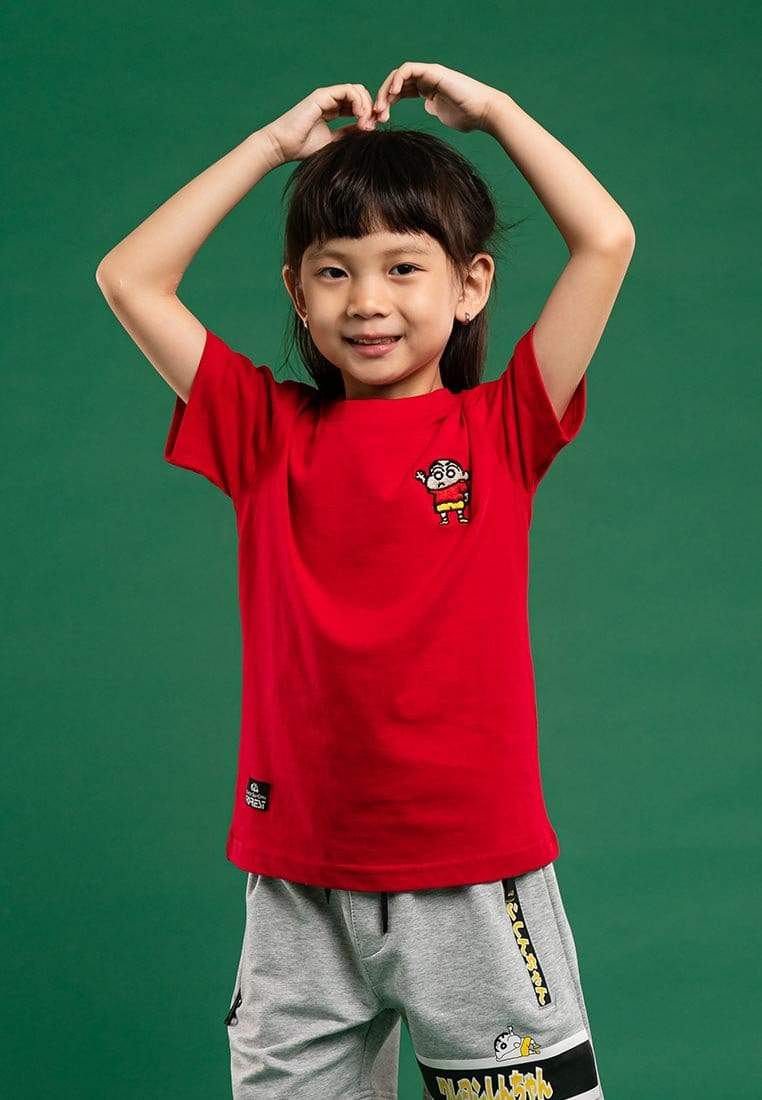 Shinchan Kids Embroidered Round Neck Tee - FCK2009