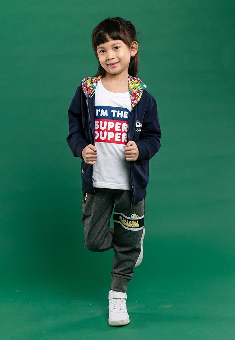 Shinchan Kids Unisex Premium Printed Logo Hooded Jacket - FCK3000