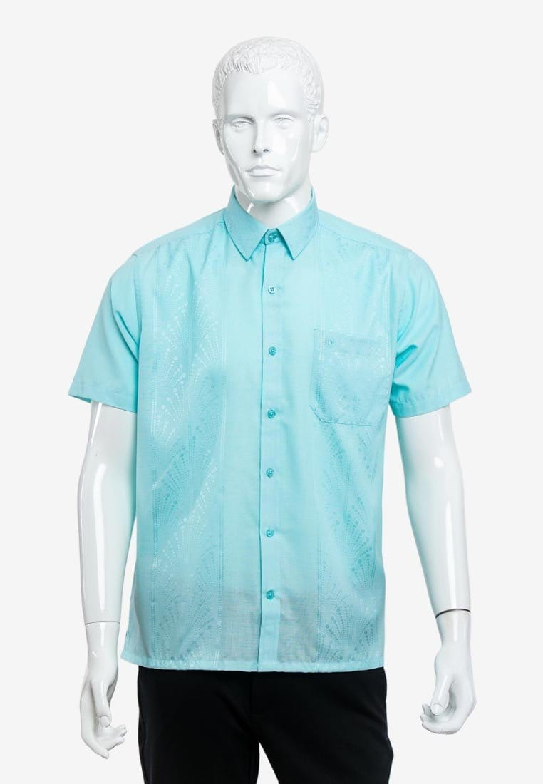 Short Sleeve Modern Fit PV Jacquard Shirt - 14920048