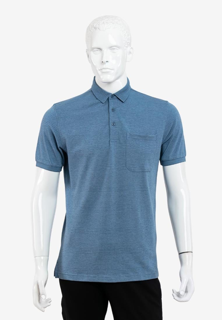 Short Sleeve Regular Fit Jacquard Solid Tee Shirt - 16319034