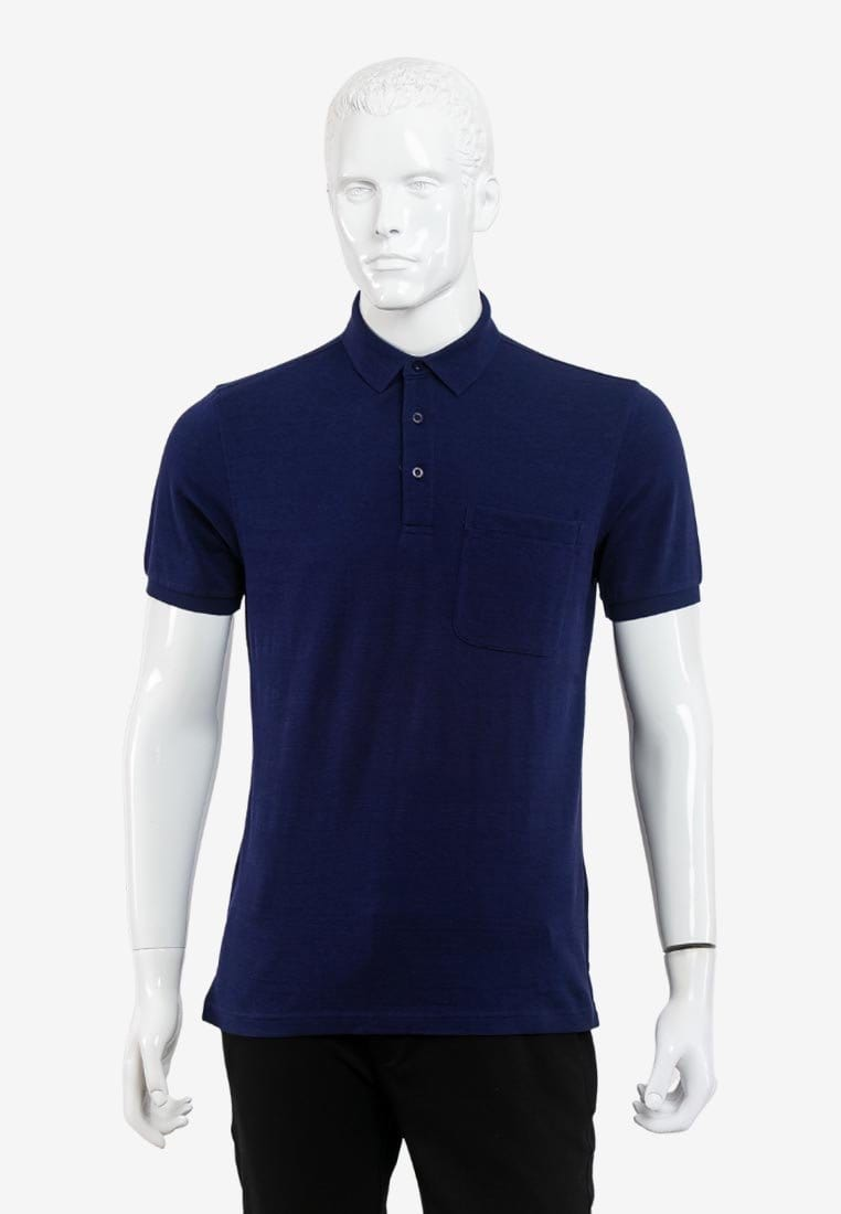 Short Sleeve Regular Fit Jacquard Solid Tee Shirt - 16319035