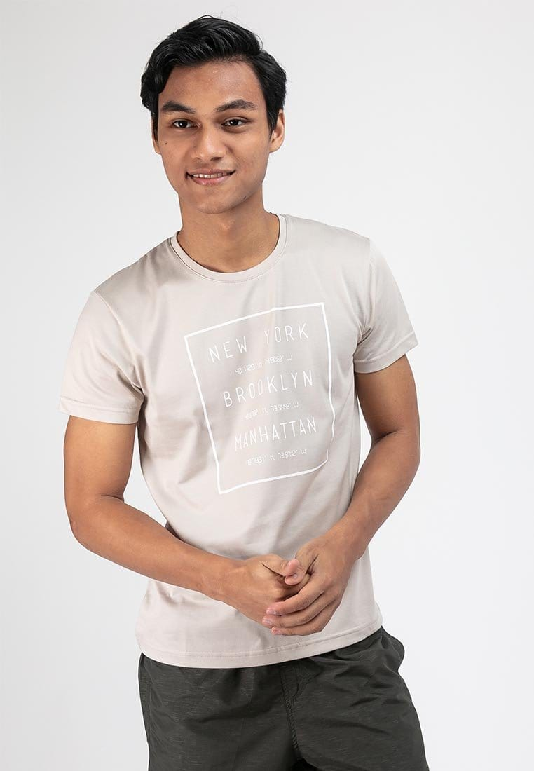 Cool Dry Slim Fit Graphic Round Neck Tee - 23480
