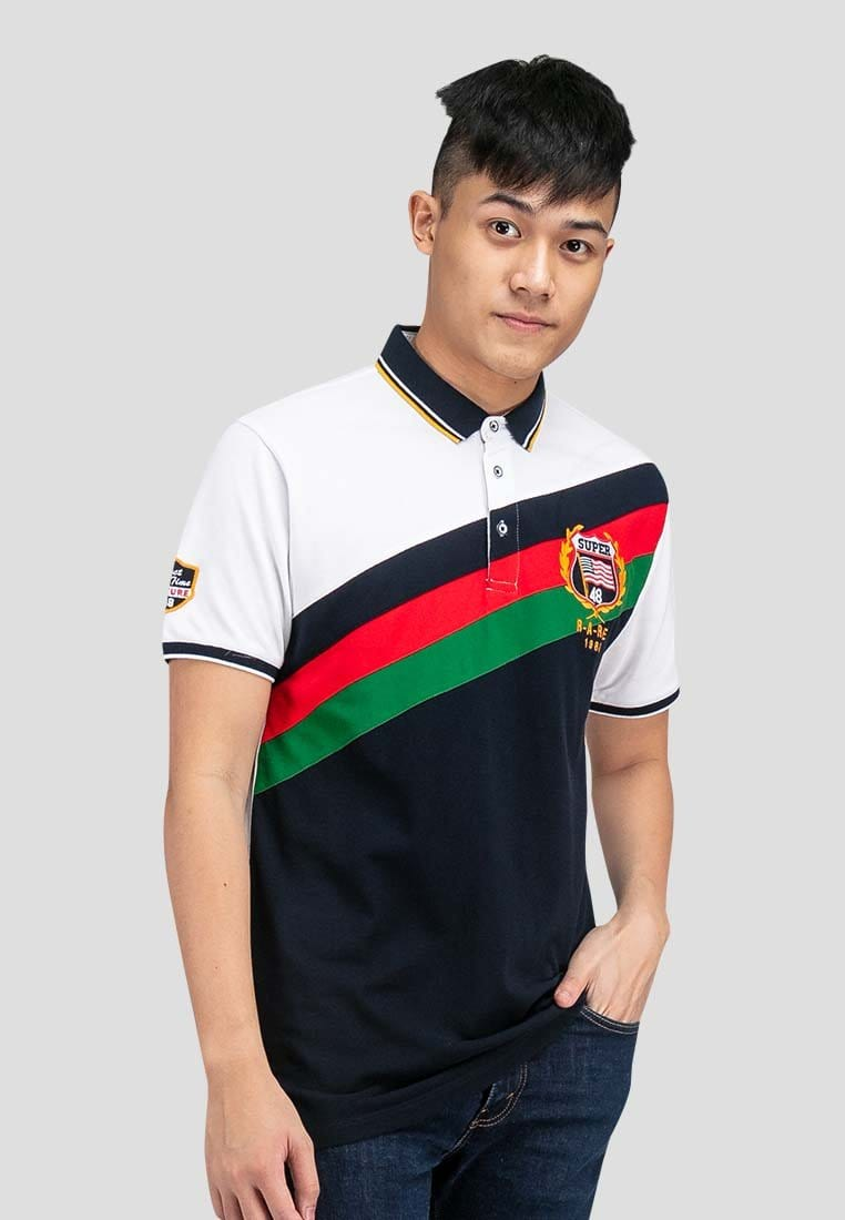 Cotton Pique Cut & Sew Slim Fit Polo Tee - 23552