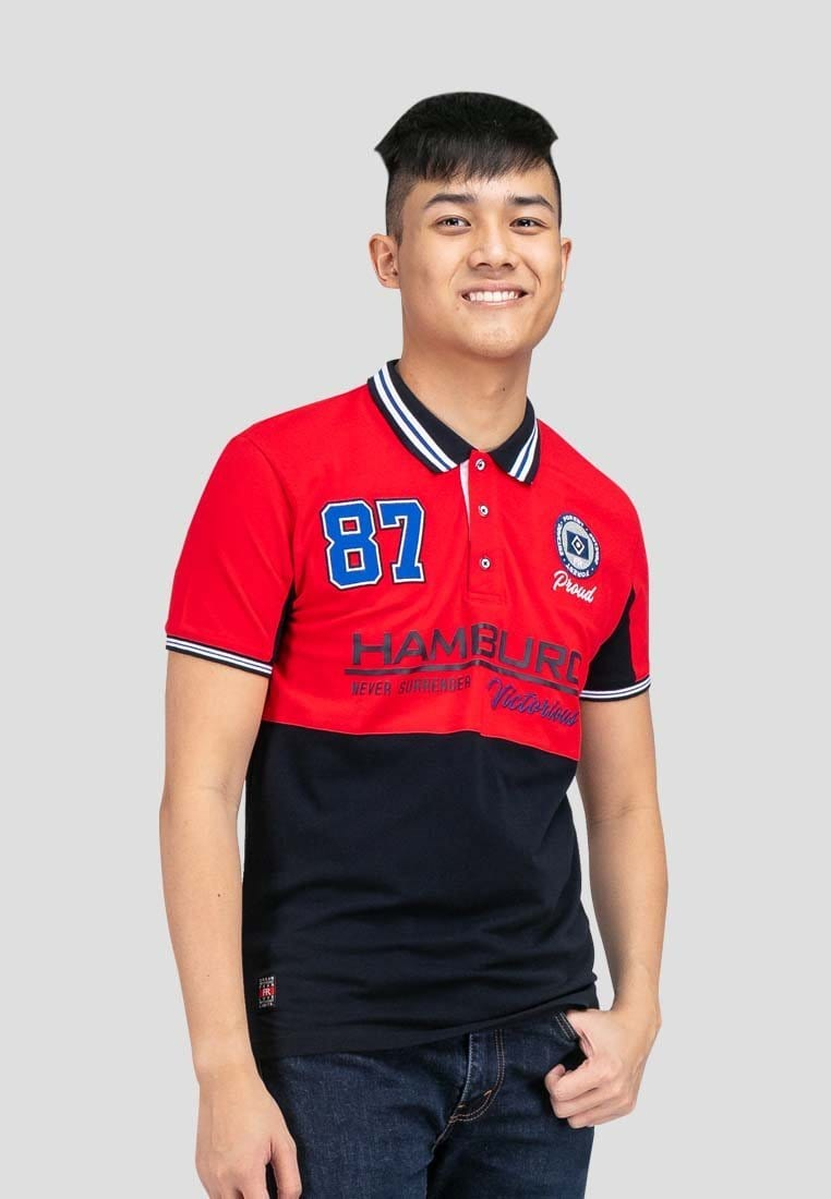 Cotton Pique Cut & Sew Slim Fit Polo Tee - 23553