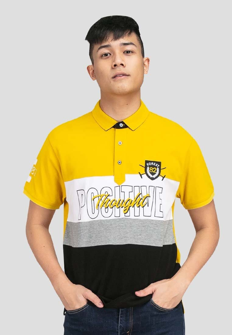 Cotton Pique Cut & Sew Slim Fit Polo Tee - 23555