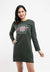 Forest Ladies Long Sleeve Round Neck Dress - 821956