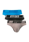 Underwear 100% Cotton Mini Briefs ( 3 Pieces ) Assorted Colours - BUD5183M