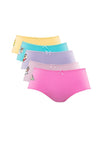 Shinchan Cotton Spandex Maxi Panties ( 5 Pieces ) Assorted Colours - CLD0009MX
