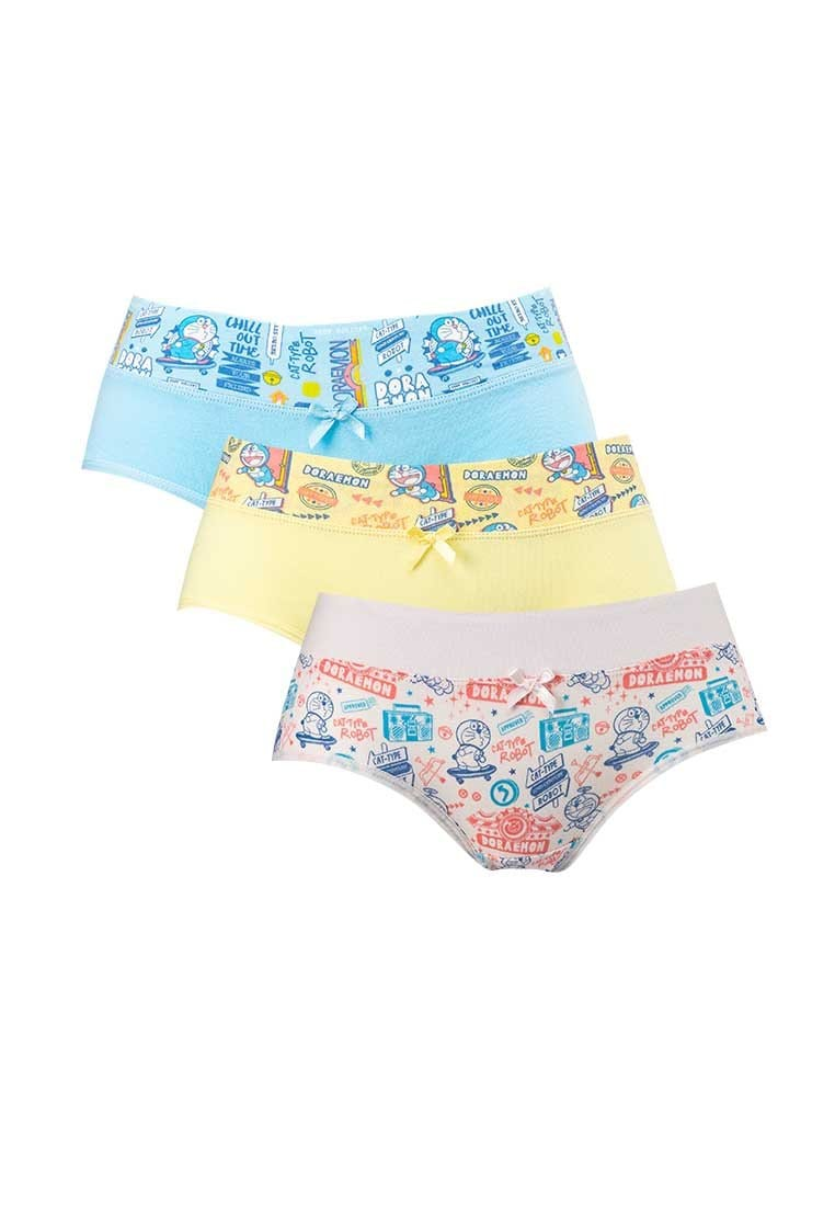 Doraemon Cotton Spandex Boy Mini Panties ( 3 Pieces ) Assorted Colours - DLD0003M