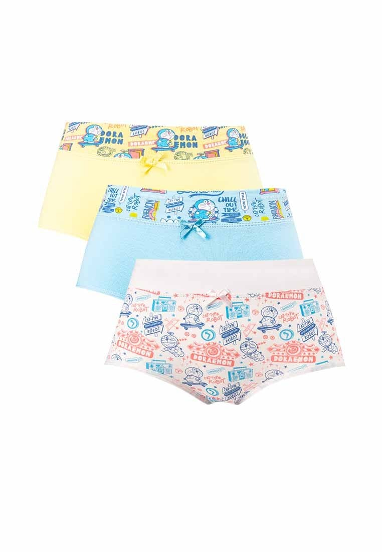 Doraemon Cotton Spandex Midi Panties ( 3 Pieces ) Assorted Colours - DLD0004D