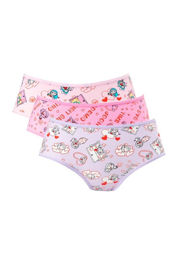 Doraemon Microfiber Spandex Midi Panties ( 3 Pieces ) Assorted Colours - DLD0010D