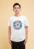 Doraemon 50th Anniversary Embroidered Font with Print Logo Round Neck Tee - FD20024