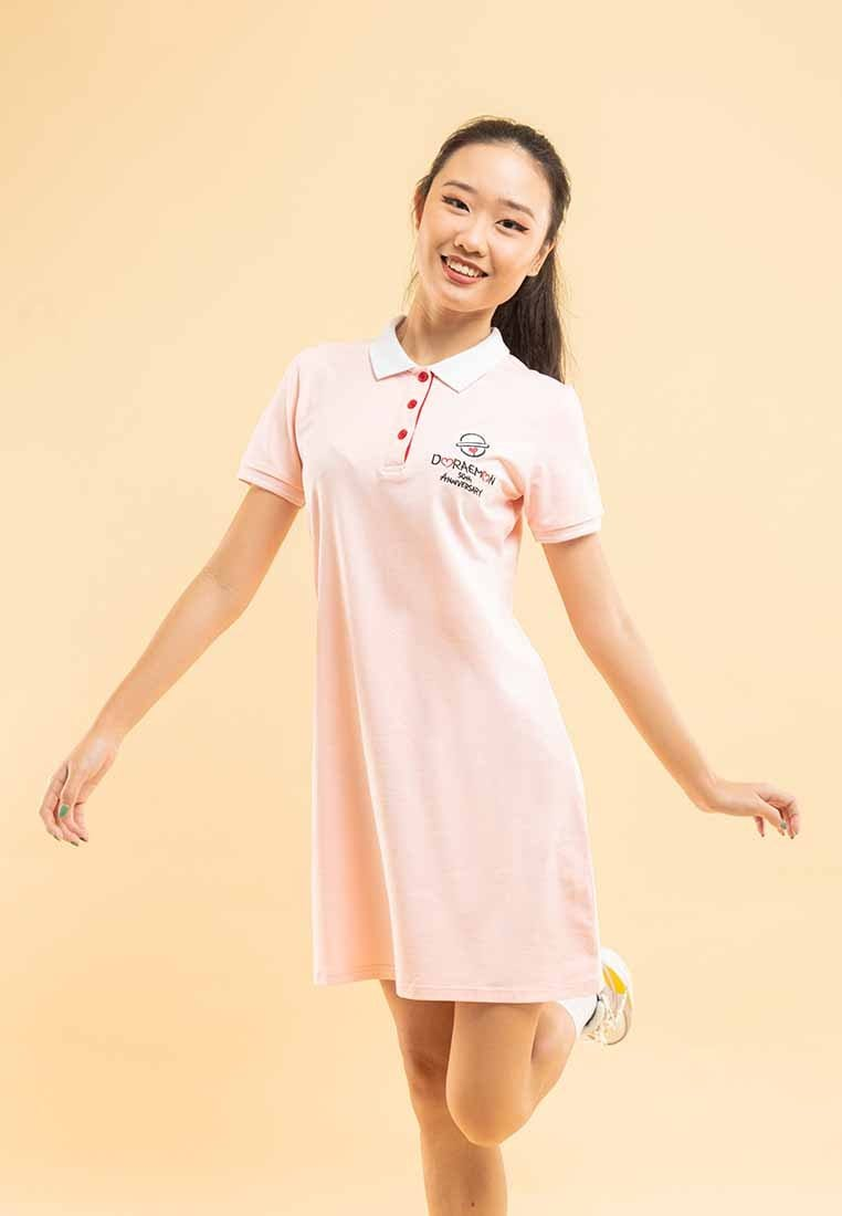 Doraemon 50th Anniversary Love Collection Embossing Polo Dress - FD820021