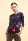 Doraemon 50th Anniversary Love Collection Embossing Long Sleeve Tee - FD820027