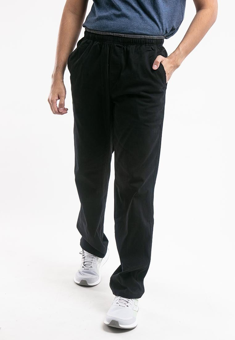 Plus Size Strechable Cotton Woven Long Pants - PL10714
