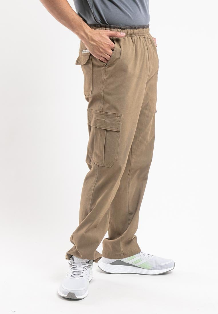 Plus Size Strechable Cotton Woven Cargo Long Pants - PL10715