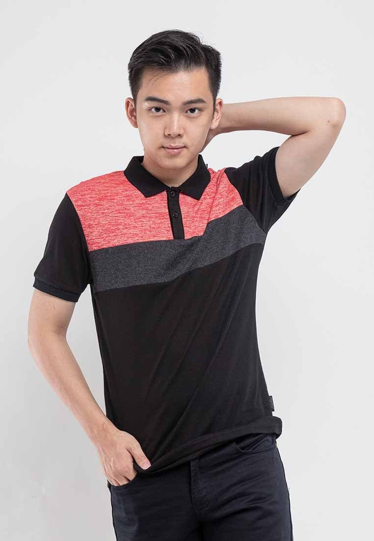 Slim Pattern Polo Tee - 23037