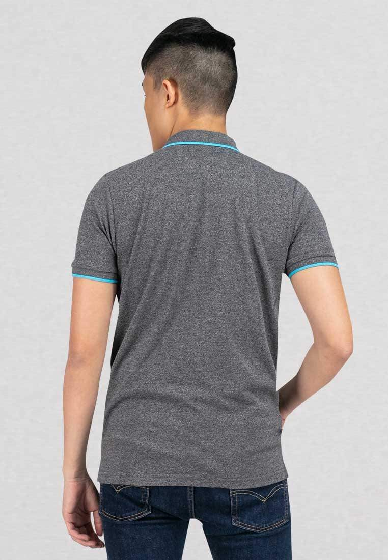 Two Tone Pique Slim Fit Polo Tipped Collar T-Shirt - 23196
