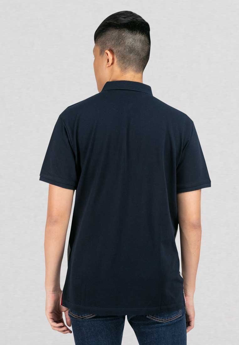 Cotton Pique Cut & Sew Slim Fit Polo Tee - 23549