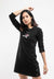 Ladies Long Sleeve Round Neck Dress - 821955