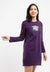 Ladies Long Sleeve Round Neck Dress - 821957