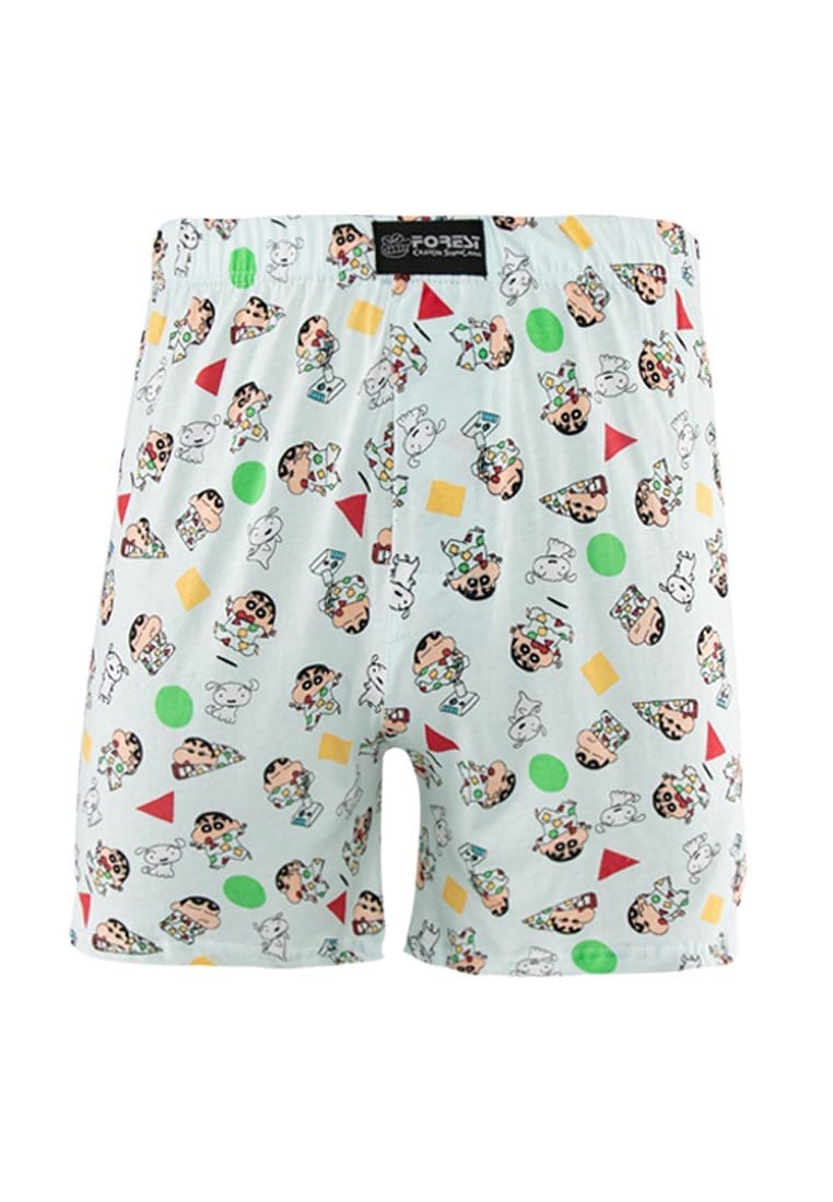 Forest X Shinchan 100% Cotton Printed Boxer (2 Pieces) Assorted Colours - CUD0005X