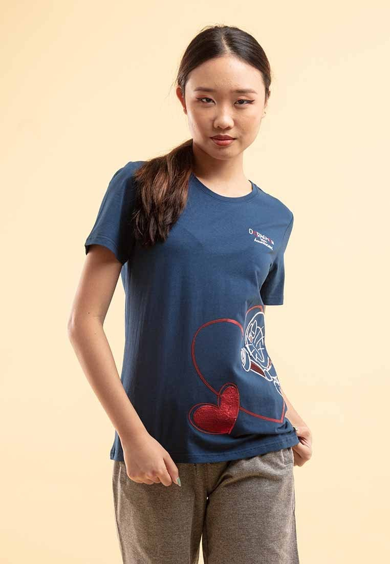 Doraemon 50th Anniversary Love Collection Embossing Round Neck Tee - FD820020