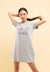 Doraemon Embroidered with Print Short Sleeve Dress - FD820022