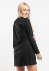 Ladies Long Sleeve Round Neck Dress - 821890