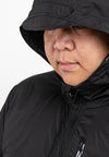 Plus Size Windbreaker Water Repellent Jacket - 30389