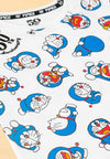 Doraemon 50th Anniversary Full Print with Embroidered Font Round Neck Tee - FDK2022