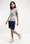 Ladies Elastic Cotton Quarter Pant - 865095