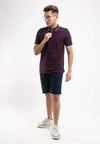 Stretchable Cotton Twill Bermuda Shorts - 670193