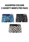 Forest X Shinchan Microfiber Spandex Shorty Briefs (2 Pieces) Assorted Colours - CUB1002S