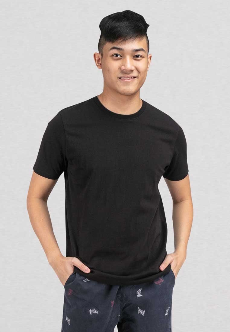 Cotton Plain Round Neck Tee - 23491