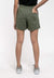 Ladies  Plain Elastic Cotton Terry Short Pants - 860136