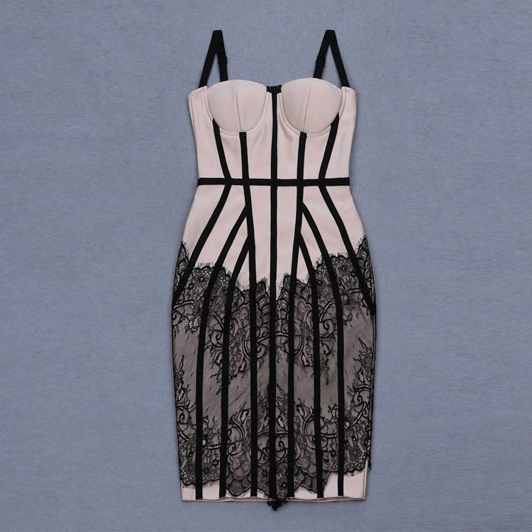 Buy Cheap Women's Sling Lace Bandage Dress Online - SunLify