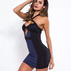Buy Cheap Lace Skinny Bandage Dress Backless Evening Dress Online - SunLify