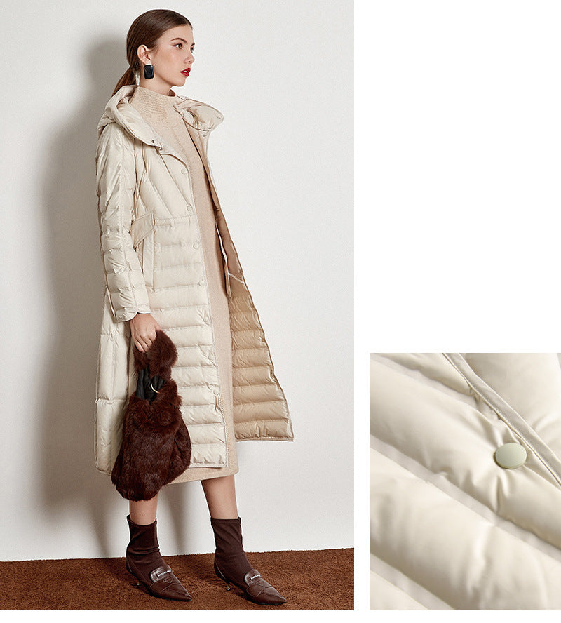 Buy Cheap Lightweight Down Jacket Female White Duck Down Coat Winter Coat Online - SunLify