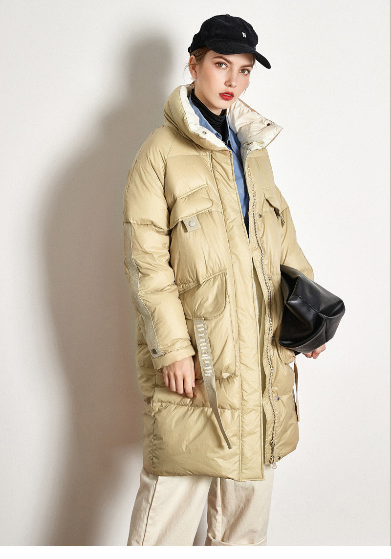 Down Jacket Thick Long White Duck Down Jacket - SunLify