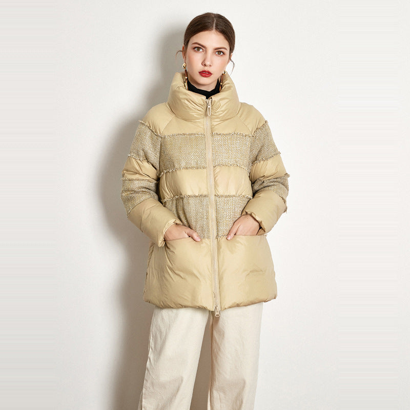 Short Stitching Down Jacket - SunLify