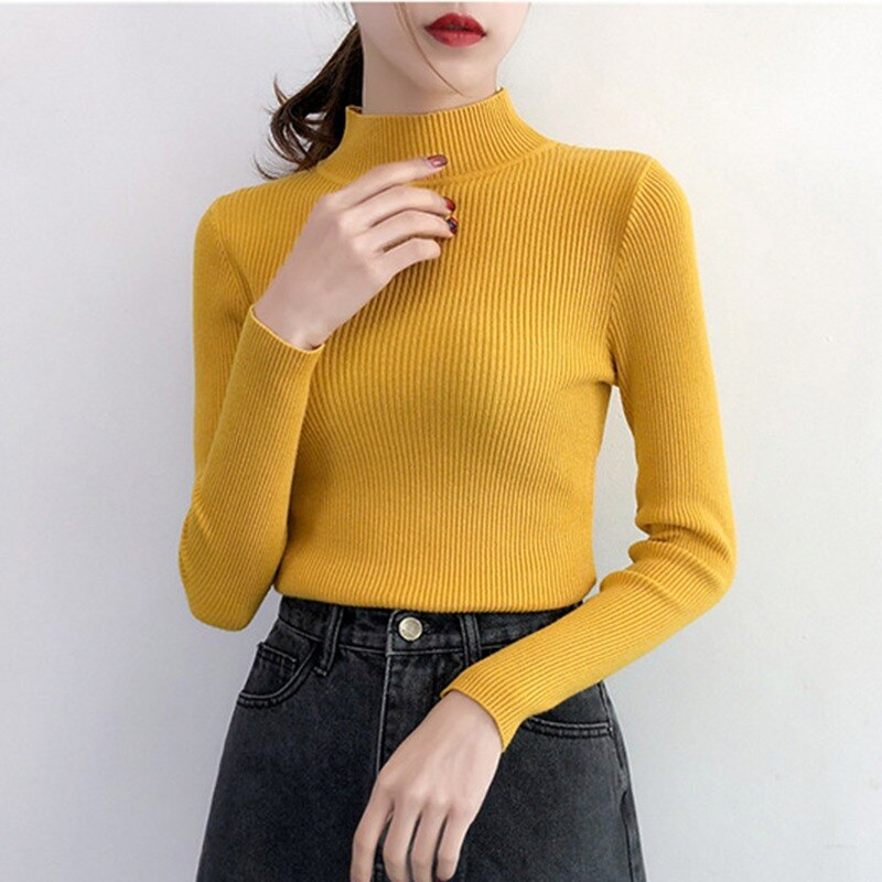 Buy Cheap Autumn Winter Sweater Women Long Sleeve Pullover Women Slim Sweaters Online - SunLify