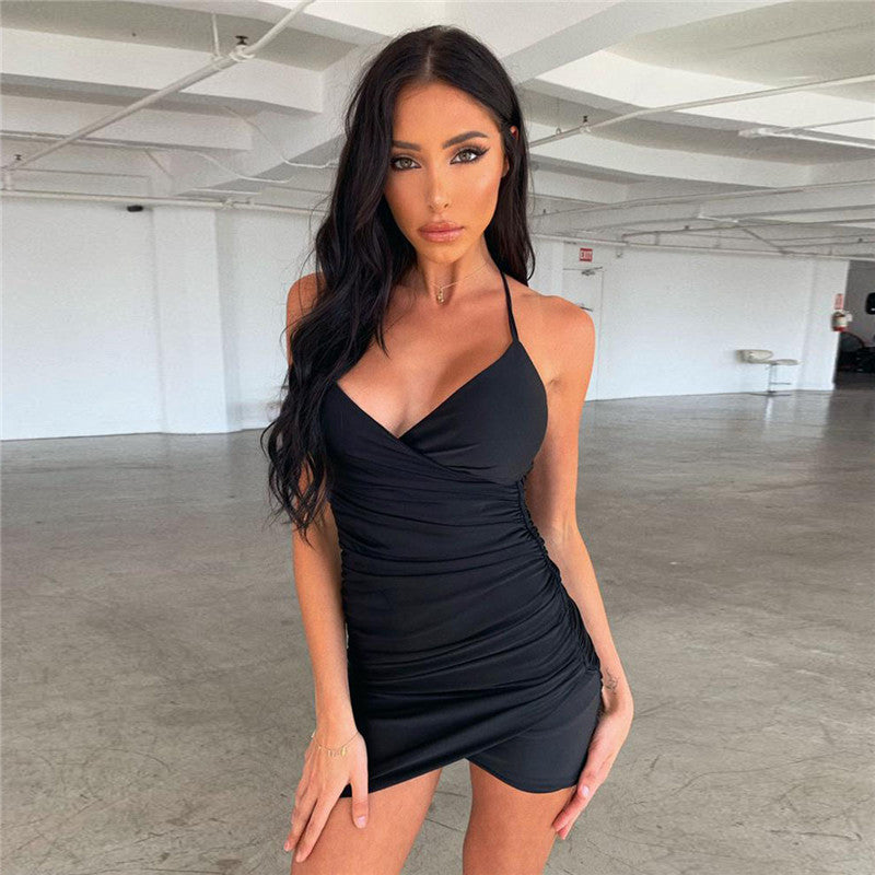 Buy Cheap Summer Mini Dress Women Irregular Sleeveless Backless Cross Dress Online - SunLify