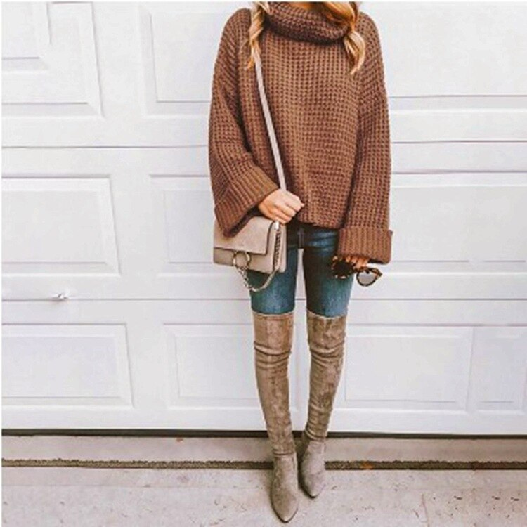 Buy Cheap Autumn Knitted Sweater Women Long Loose Sleeve Sweaters Oversize Online - SunLify