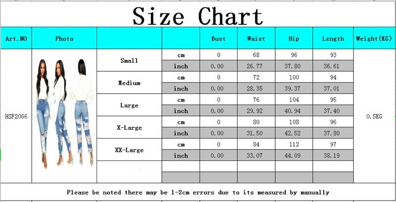 Women high waisted jeans Casual Pencil denim pants Sexy Hole Ripped calca jeans Stretch Push Up Skinny Trousers boyfriend jeans - SunLify