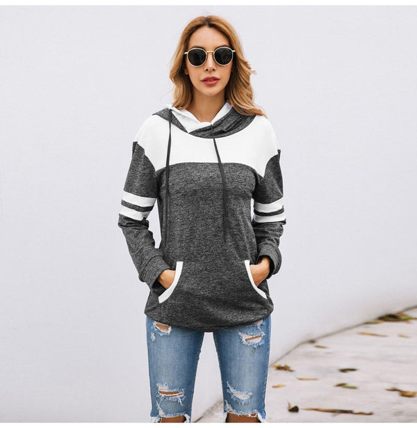 Buy Cheap Lossky Hoodies Sweatshirt Women Autumn Long Sleeve Pullover Sweatshirts Top Female Clothing  Patchwork Sportswear Online - SunLify